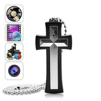 Wholesale 32GB Mini DVR Video Recorder Cross Necklace Covert Hidden Spy Camera DV Camcorder