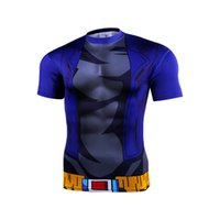animate quick - New men tight short sleeve T shirt classic animated d cartoon dragonball d short sleeve T shirt