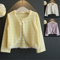 Wholesale Kids Baby Girls Lace Cardigan Outerwear Toddler Children Clothes Coat