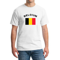 belgium national flag - New BELGIUM Football Fans Cheer T Shirts Men s Clothing European Cup Fitness Sports National Flag Tops Tees For Men