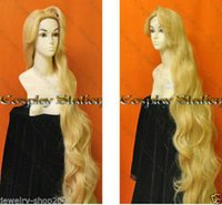 Wholesale Hot heat resistant Party hair gt gt gt New wig Rapunzel Custom Styled Wig Mixed blonde wig Style wig M