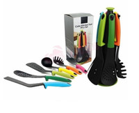 Wholesale 2016 newest Nylon non stick Cookware Set With stand Nylon Kitchen Utensil Tool Gadgets Set