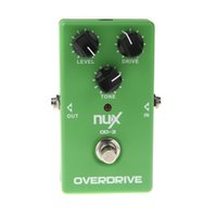 Wholesale Overdrive Guitar Guitarra Violao Electric Effect Pedal Ture Bypass Green Musical Instrument Parts Electronic New NUX OD