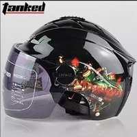 Wholesale Tanked Racing half helmet Motorcycle helmet half face with graphic printed on sides glossy ABS German quality for outdoor motorcycle riding