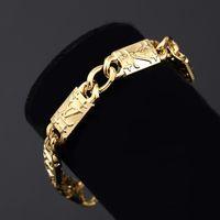 Wholesale Brand New Fashion Design Metal Regula Gold Plated Bracelets Men Women Jewelry Hip Hop Chain Rock Bracelets Bangles For Men Women