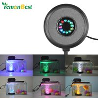 air stones for ponds - Submersible RGB LED Aquarium Light Round Fish Tank Air Stone Bubble Lamps for Garden Pool Pond Decoration US Plug