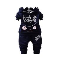 baby sweatsuit - Baby Little Boys Hoody with Jog Pants children s Sweatshirt Sweat pant Set toddler Sweatsuit Jackets cat ears on hood T T T