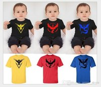 Wholesale Poke Baby Kids T shirts New Styles Kids Summer Short Sleeve Tee Shirts Baby Boys Cartoon Cute Top Tees For T