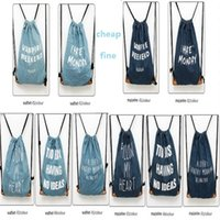 Wholesale Cute Fashion Denim Backpack Durable Solid Color Drawstring Backpack Outdoor Denim Bags Leisure Travel school bags For Girls Ladies