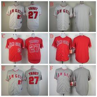 Wholesale 2016 Men s Los Angeles Angels Mike Trout Cool Base Jersey Embroidery Logoes Customized Jerseys accepted Fashions sports