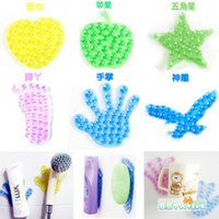 Wholesale Sale Bathroom Carpet Sucker Feet The Magic Suction Cup Type Super Double Faced Soap Shampoo A613 random Delivery