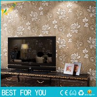 Wholesale Deep Embossed D Wall Paper Modern Vintage flower Pattern Paper Wallpaper Roll For living room Wall covering Decorate