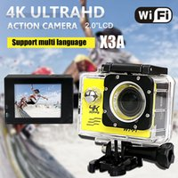 ups - 2016 Newarrival X3A Sports Action camera Wifi Contral K M Waterproof yellow black purple white gold silver Color MIC SD UP to G