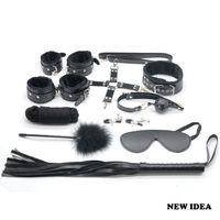 Wholesale 10pcs Restraints Set Kit Ball Gag Cuff Whip Collar A212