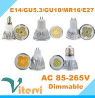 12v gu10 led - High power W CREE V V V Led bulbs W W W Dimmable GU10 MR16 E27 E14 GU5 Led spotLight lamp downlight lighting LED bulb light