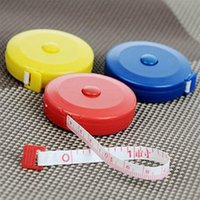 Wholesale 1 Random Color New Retractable Ruler Tape Measure inch Sewing Cloth Dieting Tailor M
