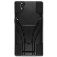 achat en gros de zte bleu-PC Rugged Silicone Defender Case antichoc Couverture téléphone hybride de protection T-Béquille Livraison Bleu DHL ZTE Z970 Noir Rouge rose chaud gratuit
