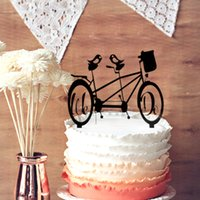 bicycle wedding toppers - We Do Wedding Cake Topper Mountain Bike Cake Bicycle With Birds Silhouette Wedding Cake Topper