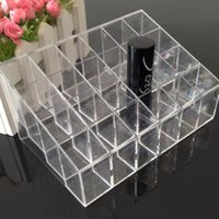 Wholesale Hot Makeup Cosmetic Organizer Makeup Lipstick Storage Display Stand Case Rack Holder DHL Free MR076