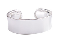 Wholesale New Fashion Fashion Bright Silver Smooth Wide Cuff Bangle Bracelet for sale