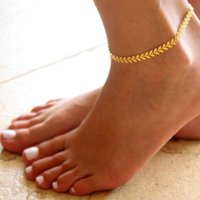 Cheap Simple Women Gold Chain Anklet Ankle Bracelet Barefoot Sandal Beach Foot Arrow Jewelry