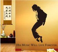 art classroom posters - Michael Jackson Dancing star sports Wall Sticker arts bar Wall Decal For boy kids room Bedroom classroom livingroom Poster Wallpaper JM7173