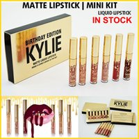 Wholesale Kylie Birthday Edition lip gloss leo mini kit set Kylie lipstick Cosmetics Lord Metal Matte Lipstick Gold the Limited Edition gifts