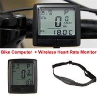 Wholesale LCD Bike Bicycle Cycling Computer Odometer Speedometer Wireless Heart Rate Monitor Tester Chest Strap Bicycle Accessories