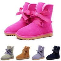 Wholesale 2016 winter New Fashion Australia classic strap boots real leather women s snow boots plus thick warm cotton shoes
