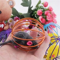 animal plastics cages - 1pcs Fun Toys False Mouse in Rat Cage Ball For Pet Cat Kitten Play Toy Mouse Best Gift Colors Random