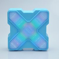 audio spectrum led - Portable Mini Wireless X LED Colorful Lamp Spectrum Bluetooth Speaker Stereo Subwoofer Support TF Card For Handfree Outdoors