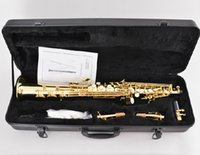 Wholesale Bb Key Soprano saxophone with ABS case Shipping time days Wind Musical instruments