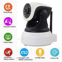 Wholesale P2P HD p Baby Monitor Wifi IP Camera Night IR Cut Way Audio Talking Pan Tilt Auto Cruise