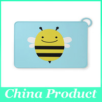 baby placemats - Waterproof Non Slip Placemat Table Mat Cut Cartoon Silicone Baby Children Dining Placemats Portable Table Mats Hot Selling