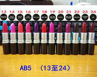 Wholesale 2016 Hot M Makeup Ruby Woo Luster Lipstick Frost Lipstick Matte Lipstick g Colors Lipstick Valentines gift with logo colors DHL