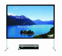 Wholesale inch Fast Fold D Silver Projection Screen With Alumium Frame And Mobile Case