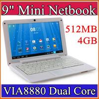 Wholesale 9 inch Mini laptop VIA8880 Netbook Android laptops VIA8880 quot Dual Core Cortex A9 Ghz MB GB Netbook B BJ