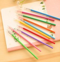 Wholesale Creation Colors Cartoon Fresh Star Diamond Color Gel Pen Candy Multi Color Writing Student Office Finance Pen mm ZJ P03