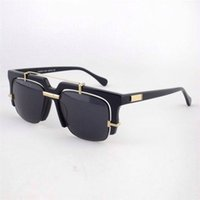 big black square sun glasses - Square Half Frame Sunglasses UV400 Protection Retro Black Big Sun Glasses for Mens Colors for Choice CZ873