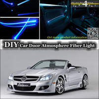 amg tuning - interior Ambient Light Tuning Atmosphere Fiber Optic Band Lights For Mercedes Benz SL MB R129 R230 R231 Door Panel illumination Refit