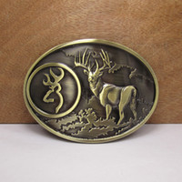 Wholesale Buck Hunter Deer Bow Hunting Western Metal Fashion spotted deer Belt Buckle