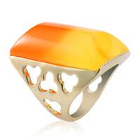 amanda gifts - Fashion jewelry the ring yellow to orange changing color women mens gold ring amanda seyfried engagement ring