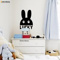 art baby names - DIY Rabbit Pattern Personalised Customized Name Wall Decal Stickers Home Decor Art Murals Wallpaper Baby Nursery Bedroom
