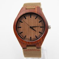 bamboo ideas - Hot Japan quartz movement Wood Watches Men Natural Bamboo Wooden Watches With Genuine Cowhide Leather Idea Gifts Father s day gifts