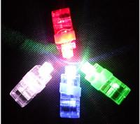 Wholesale Chistmas LED laser Finger Ring LED Finger Lamp Lights Glow Laser Finger Beams LED Flashing Ring Party express shipping
