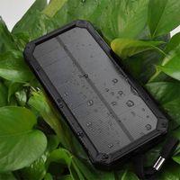 Power Bank Full 15000mah Портативные порты панели солнечной батареи зарядное устройство мобильного телефона Смартфон Мобильный телефон Водонепроницаемый Мини