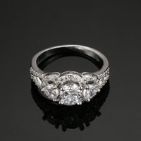 Wholesale Genuine Sterling Silver Pure Solid Gram Stone CZ Diamond Jewelry Engagement Rings For Women