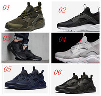 Wholesale With box New Colors Air Huarache Ultra Running Shoes Huraches Fashion Trainers for men women Outdoors Shoes Huaraches Sneakers Size36