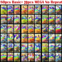 Wholesale 200 Poke GO game cards MEGA toy English Poke EX Card Flash Cards No Repeat Newest Cartas Poke Toys Card Collection For Children Gift