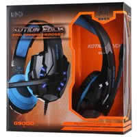 Wholesale KOTION EACH G9000 mm Game Gaming Headphone Headset Earphone With Mic LED Light For Laptop Tablet PS4 Mobile Phones